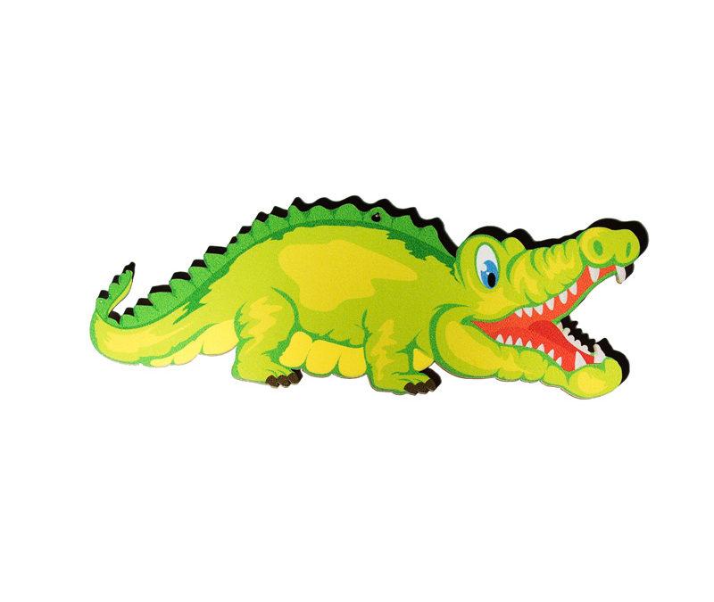 Dřevěný výřez krokodýl