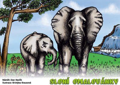 Omalovánky Sloni