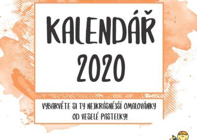 Kalendář 2020 s omalovánkami
