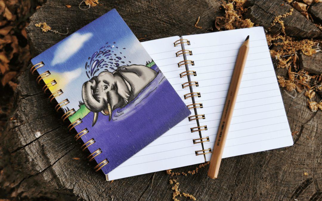 Deníček, slon ve vodě