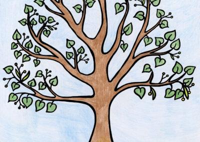 Omalovánka stromy